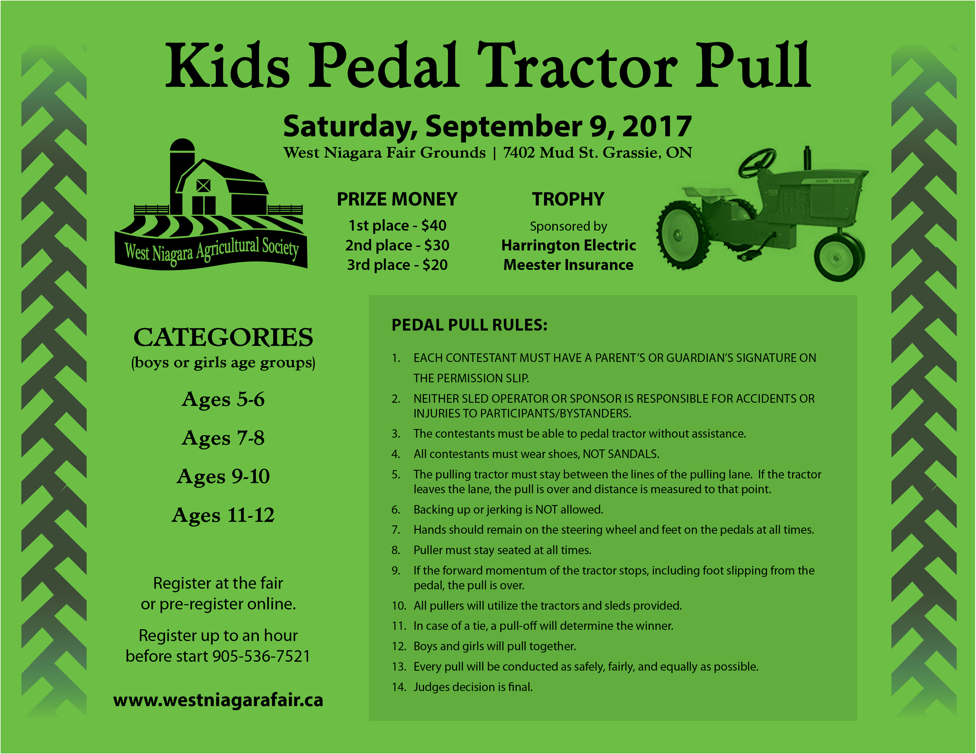 Kids Pedal Pull Rules