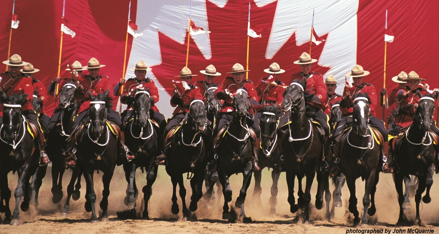 RCMP Musical Ride Photographed by John McQuarrie.