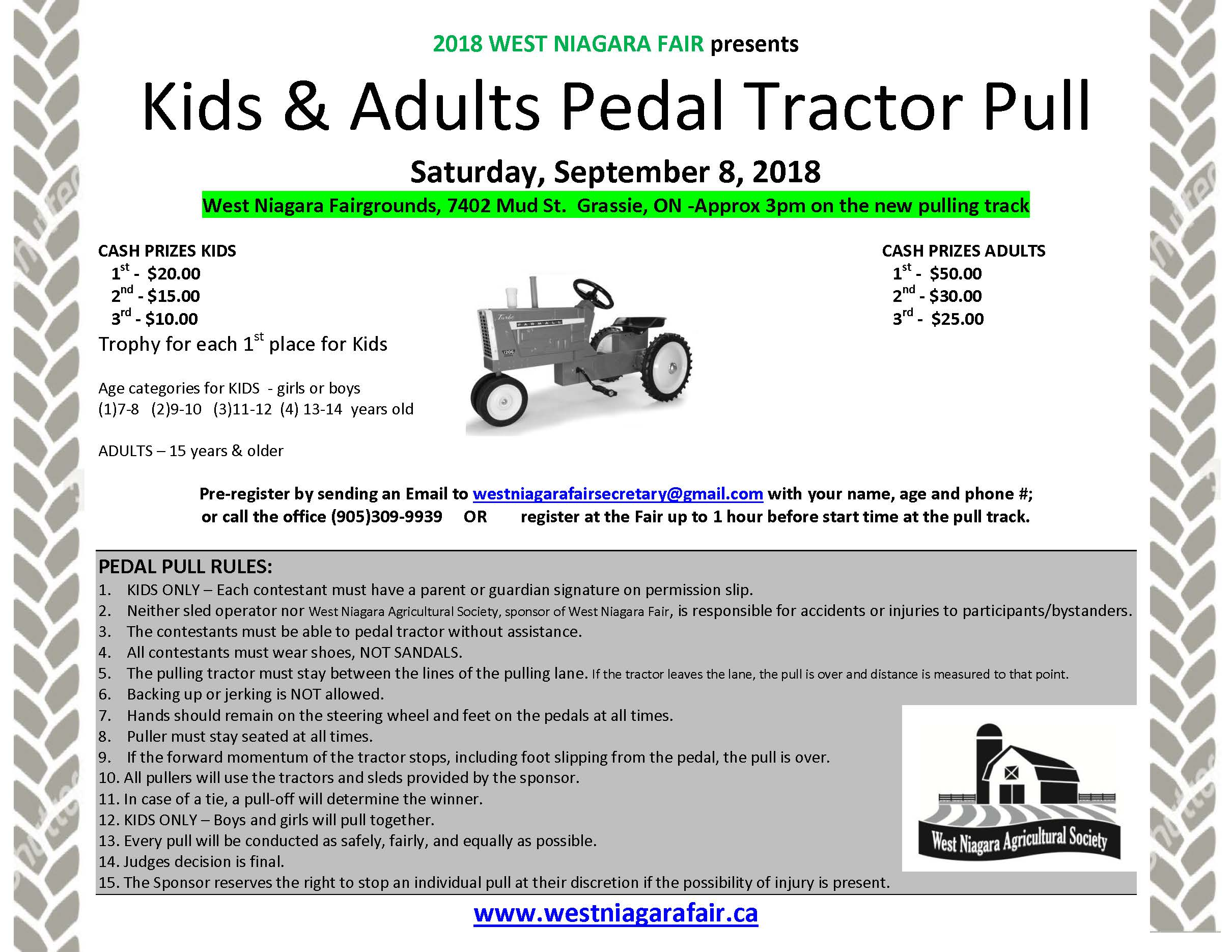 Pedal tractor pull poster